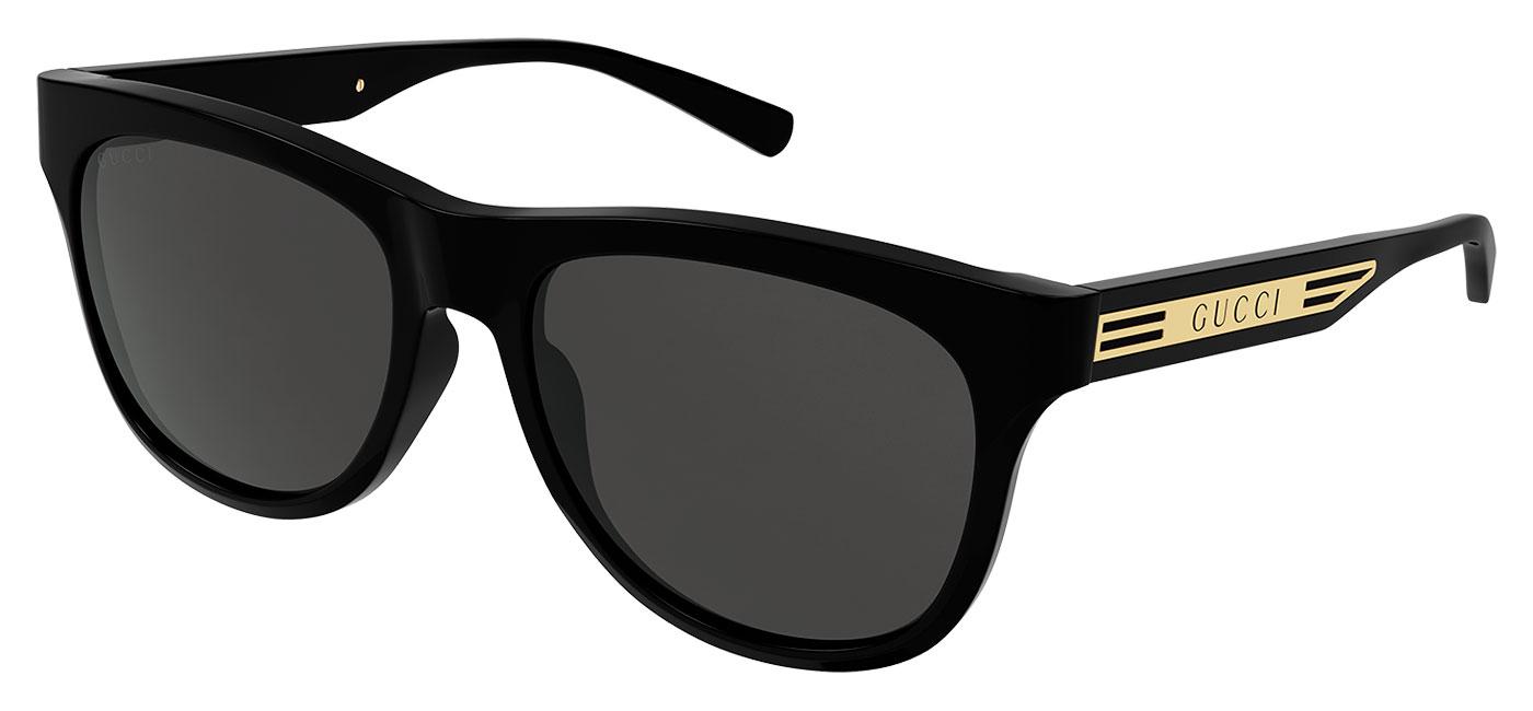 Gucci GG0980S Sunglasses – Black & Gold / Grey 1