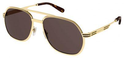 Gucci GG0981S Sunglasses - Gold / Brown