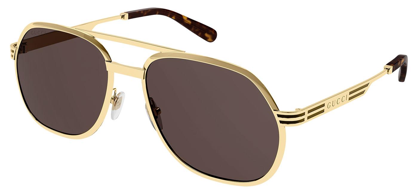 Gucci GG0981S Sunglasses – Gold / Brown 1
