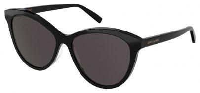 Saint Laurent SL 456 Sunglasses - Black / Black