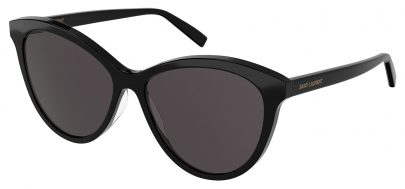 Saint Laurent SL 456 Prescription Sunglasses - Black / Black