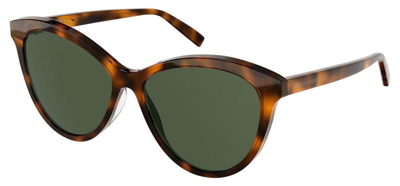 Saint Laurent SL 456 Sunglasses – Havana / Green 1