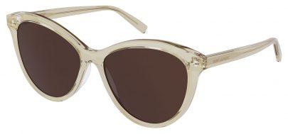 Saint Laurent SL 456 Prescription Sunglasses - Transparent Beige / Brown