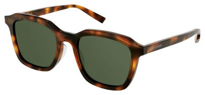 Saint Laurent SL 457 Sunglasses - Havana / Green