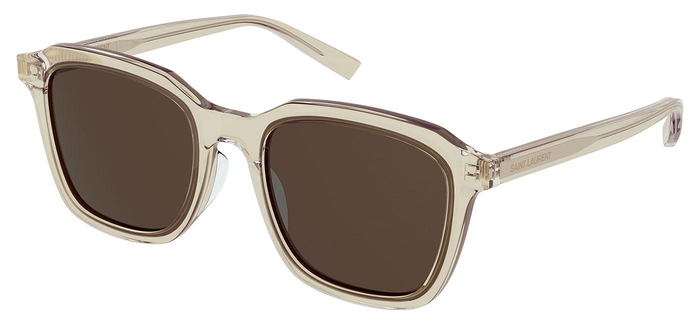 Saint Laurent SL 457 Sunglasses – Transparent Beige / Brown 1