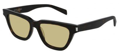 Saint Laurent SL 462 SULPICE Prescription Sunglasses - Havana / Yellow