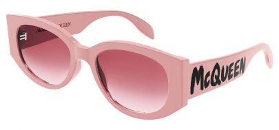 Alexander McQueen AM0330S Sunglasses - Pink / Pink Gradient