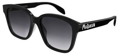 Alexander McQueen AM0331SK Sunglasses - Black / Grey Gradient