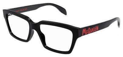Alexander McQueen AM0332O Glasses - Black