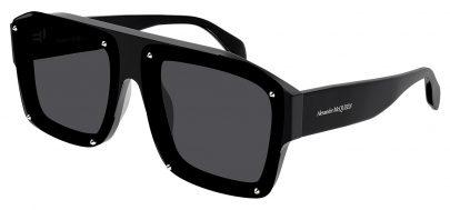 Alexander McQueen AM0335S Prescription Sunglasses - Black / Grey