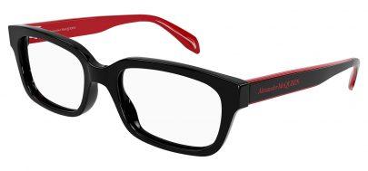 Alexander McQueen AM0345O Glasses - Black & Red
