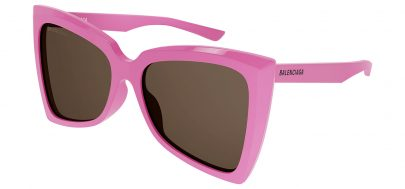 Balenciaga BB0174S Prescription Sunglasses - Pink / Brown