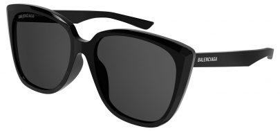 Balenciaga BB0175SA Sunglasses - Black / Grey