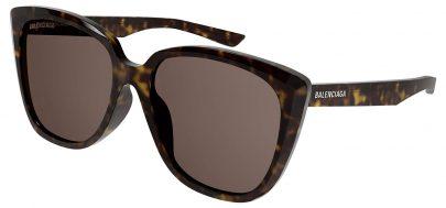 Balenciaga BB0175SA Prescription Sunglasses - Havana / Brown