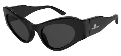 Balenciaga BB0177S Prescription Sunglasses - Black / Grey