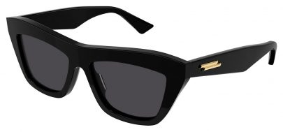 Bottega Veneta BV1121S Sunglasses - Black / Grey