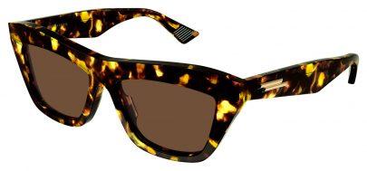 Bottega Veneta BV1121S Prescription Sunglasses - Havana / Brown