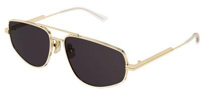 Bottega Veneta BV1125S Prescription Sunglasses - Gold / Grey