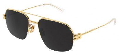 Bottega Veneta BV1127S Sunglasses - Gold / Grey