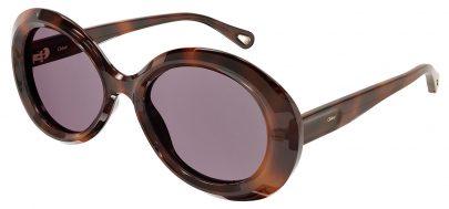 Chloe CH0051S Prescription Sunglasses - Havana / Violet