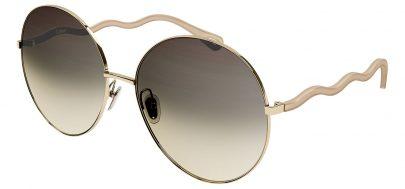 Chloe CH0055S Sunglasses - Beige & Brown / Brown Gradient