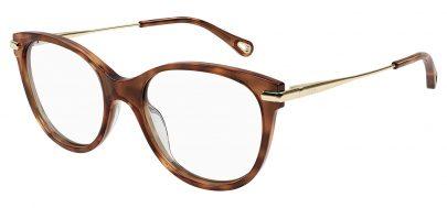 Chloe CH0058O Glasses - Havana & Gold