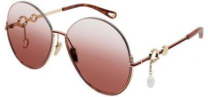 Chloe CH0067S Prescription Sunglasses - Gold / Orange Gradient