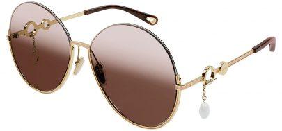 Chloe CH0067S Sunglasses - Gold / Brown Gradient