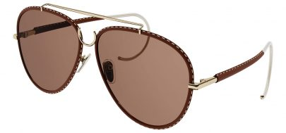 Chloe CH0080S Sunglasses - Gold & Brown / Brown