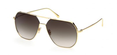 Tom Ford FT0852 Gilles-02 Sunglasses - Shiny Deep Gold / Smoke Gradient