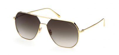 Tom Ford FT0852 Gilles-02 Prescription Sunglasses - Shiny Deep Gold / Smoke Gradient