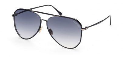Tom Ford FT0853 Charles-02 Sunglasses - Shiny Black / Smoke Gradient