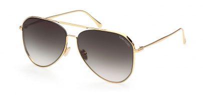 Tom Ford FT0853 Charles-02 Sunglasses - Shiny Deep Gold / Smoke Gradient
