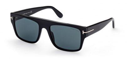 Tom Ford FT0907 Dunning-02 Sunglasses - Shiny Black / Blue