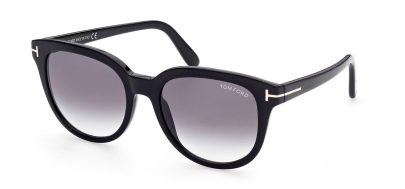 Tom Ford FT0914 Olivia-02 Sunglasses - Shiny Black / Smoke Gradient