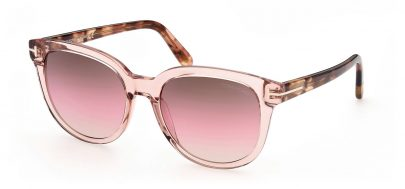 Tom Ford FT0914 Olivia-02 Sunglasses - Shiny Pink / Brown Gradient