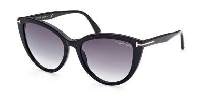 Tom Ford FT0915 Isabella-02 Prescription Sunglasses - Shiny Black / Smoke Gradient