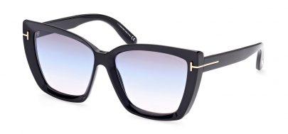 Tom Ford FT0920 Scarlet-02 Prescription Sunglasses - Shiny Black / Smoke Gradient