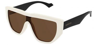 Gucci GG0997S Sunglasses - White & Black / Brown