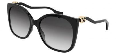 Gucci GG1010S Prescription Sunglasses - Black / Grey Gradient