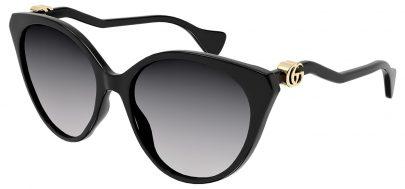 Gucci GG1011S Prescription Sunglasses - Black / Grey Gradient