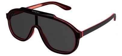 Gucci GG1038S Sunglasses - Black & Red / Grey