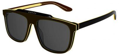 Gucci GG1039S Sunglasses - Black & Yellow / Grey