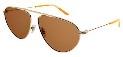 Gucci GG1051S Prescription Sunglasses - Gold / Brown