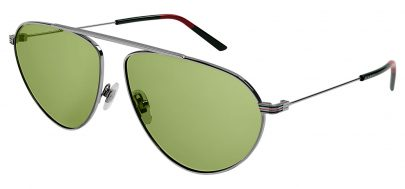 Gucci GG1051S Prescription Sunglasses - Silver / Green