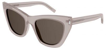 Saint Laurent SL 214 KATE Prescription Sunglasses - Nude / Brown