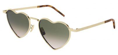 Saint Laurent SL 301 LOULOU Prescription Sunglasses - Gold / Green Gradient