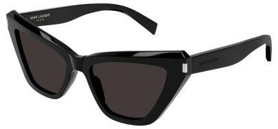 Saint Laurent SL 466 Sunglasses - Black / Grey