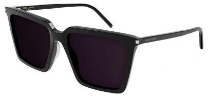 Saint Laurent SL 474 Prescription Sunglasses - Black / Grey