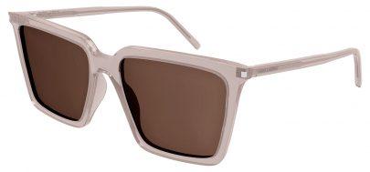 Saint Laurent SL 474 Prescription Sunglasses - Nude / Brown